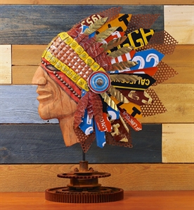 Picture of Mixed Media Native American Statuette